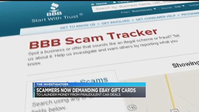 Car sale scam uses eBay gift cards to steal your cash