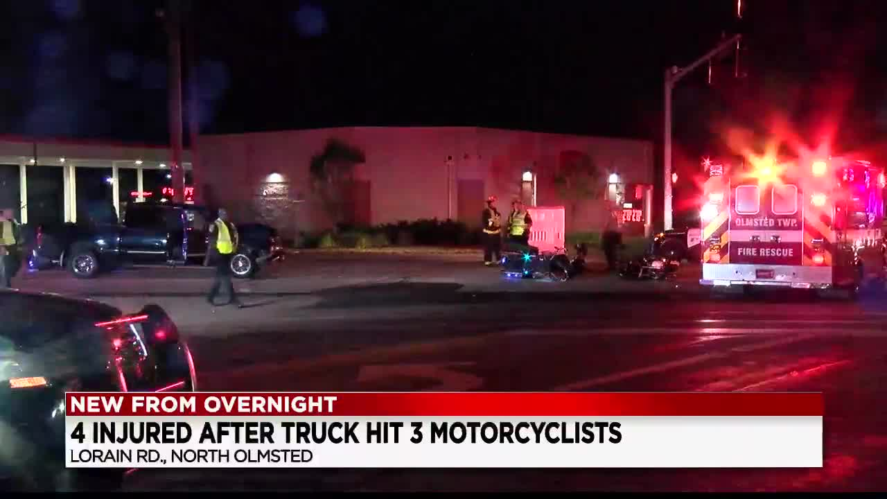 4 hospitalized after motorcycle crash in North Olmsted