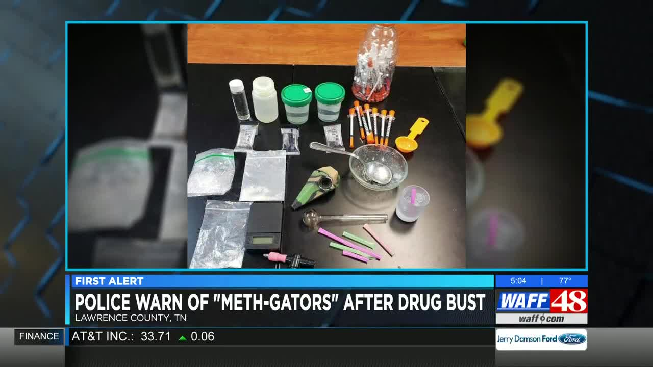 Police: Flushing drugs could create 'meth-gators' in north Alabama