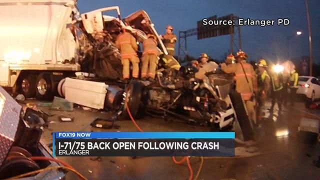 Interstate in NKY reopens 6 hours after crash