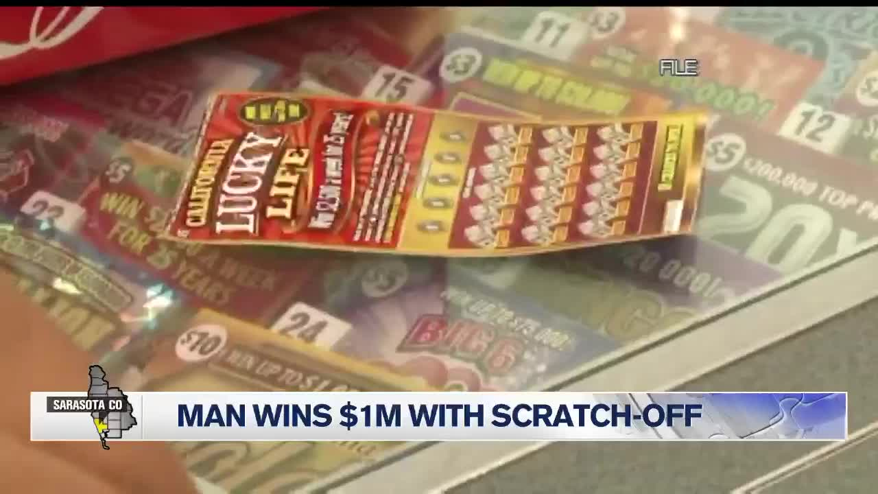 75-year-old Sarasota man wins scratch off for $1 million