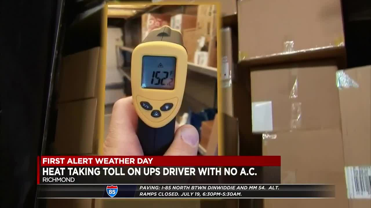UPS driver says trucks without A/C create dangerous conditions