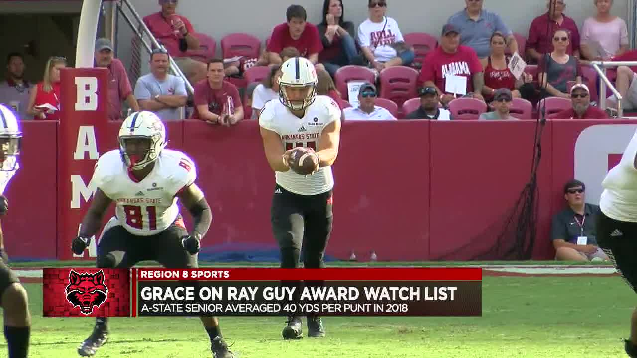 Arkansas State senior Cody Grace named to Ray Guy Award