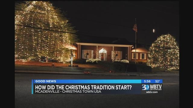 Mcadenville Christmas Lights.Man Helped Create The Beginnings Of Mcadenville Lights