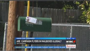 Asked And Answered: Campaign flyers in mailboxes illegal?