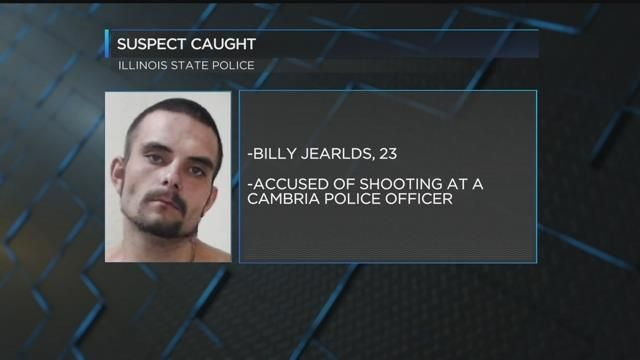 CAPTURED! Suspect in Cambria police officer shooting caught