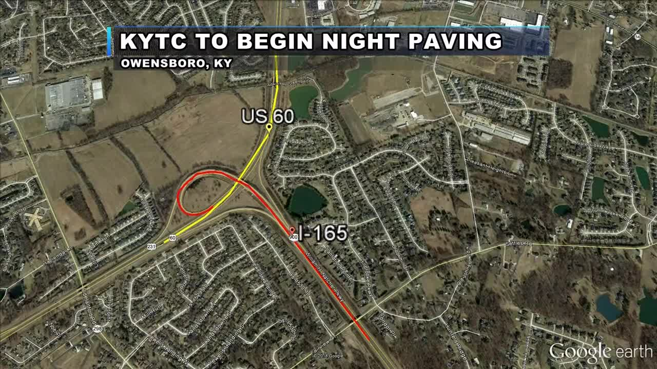 KYTC to start night paving ramps at I-165 in Owensboro Kytc Maps on state of kansas highway patrol location maps, indiana department of natural resources maps, wyoming department of transportation maps, archived ohio road maps,