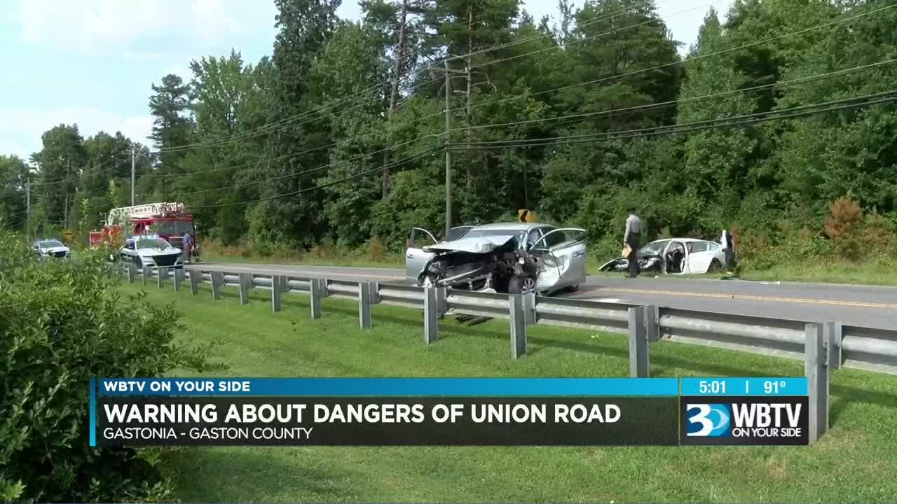 Two airlifted from crash on dangerous road in Gaston County