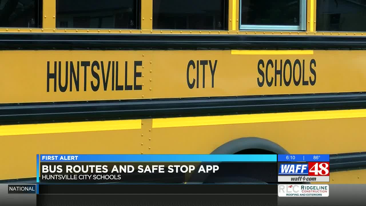 Huntsville City Schools updated app lets you monitor bus routes
