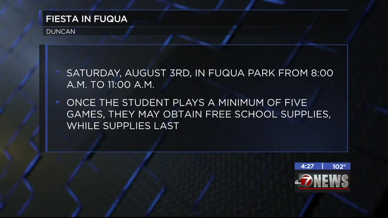 Students to get free school supplies at Fiesta in Fuqua