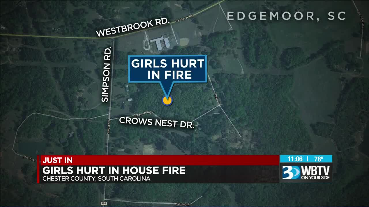 2 girls injured in house fire in Chester County