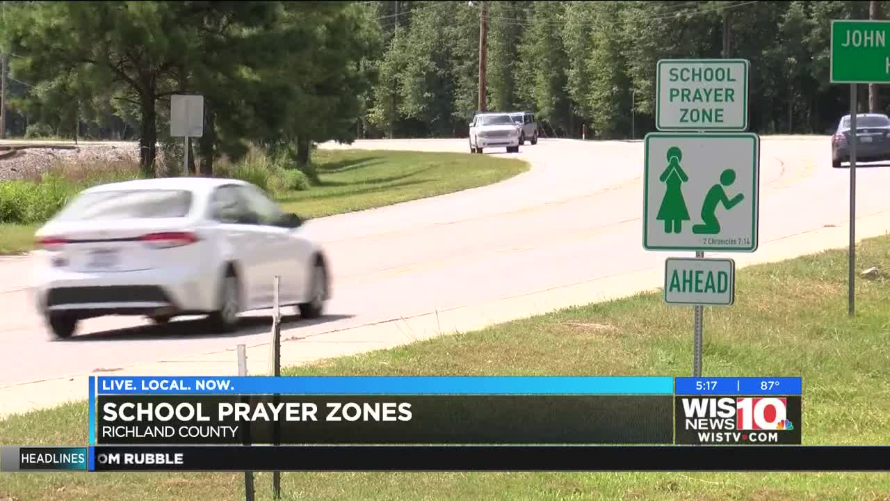 School Prayer Zone' road signs popping up around Richland Co , SC