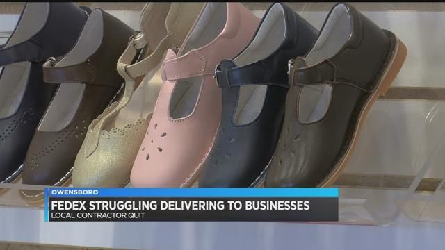 fedex struggling to deliver to owensboro businesses