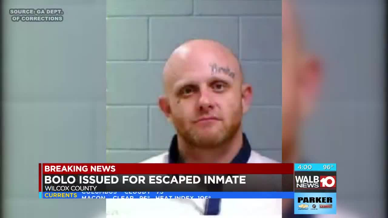 Wilcox State Prison inmate captured in Cook Co  after escaping