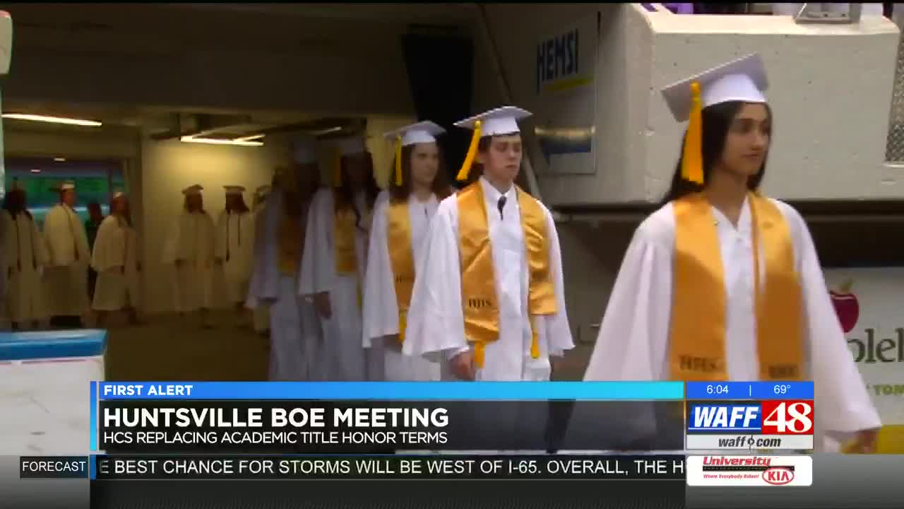 Student opposes board's decision to remove valedictorian honors at
