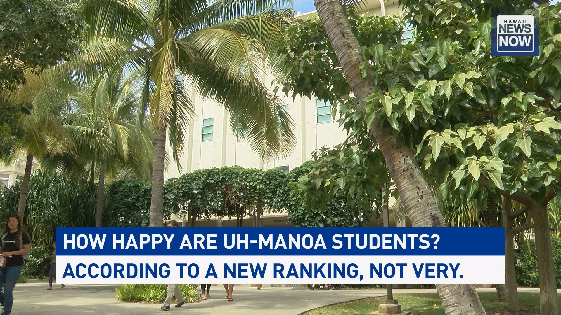 How happy are UH-Manoa students? According to one ranking