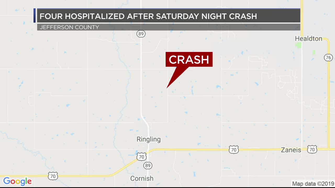 Four teenagers hospitalized after car accident in Jefferson County