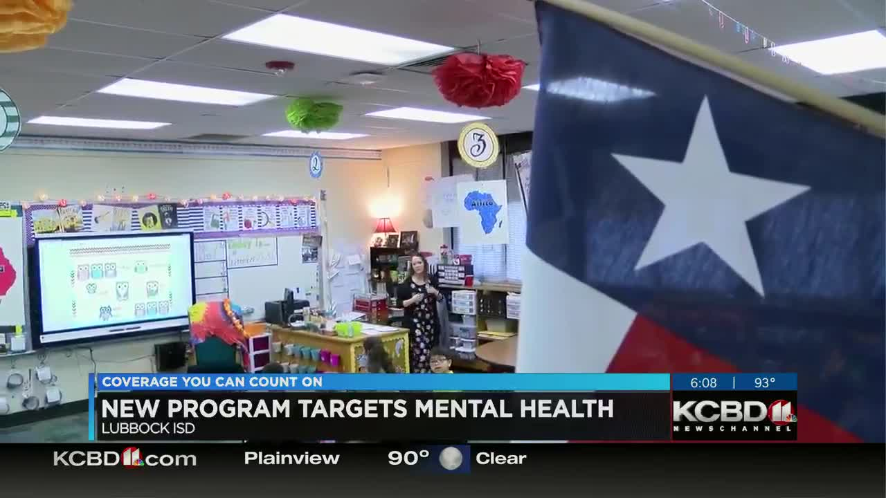 Lubbock ISD to roll out new mental health program to
