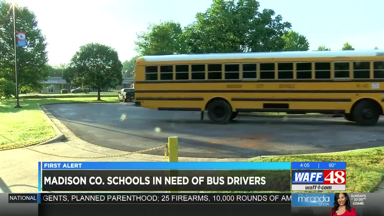 Hiring alert: Madison County Schools still searching for bus