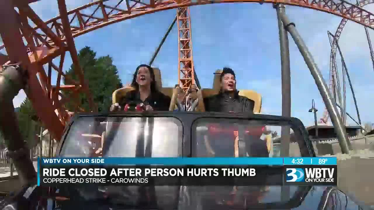Guest injury closes Carowinds roller coaster ride