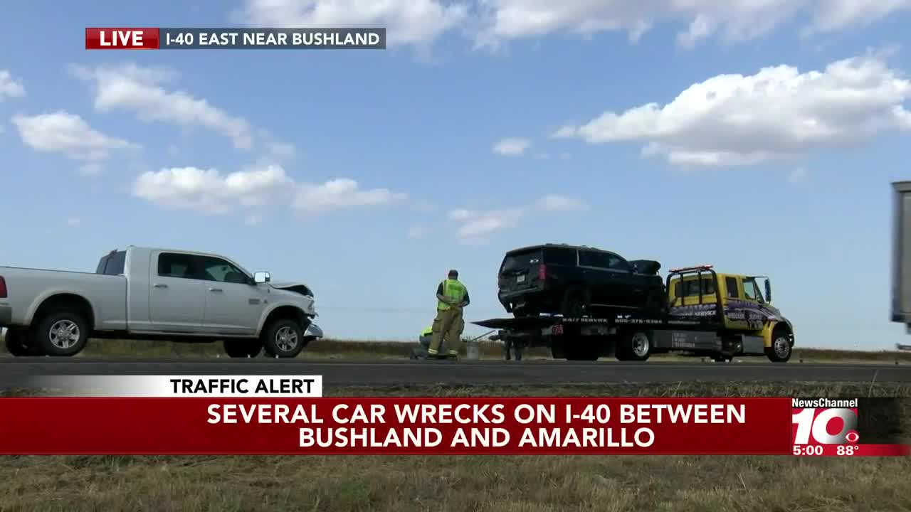 Traffic back to normal after 6-car collision on I-40 at Bushland