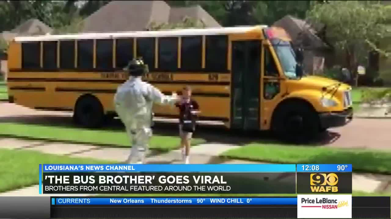 Louisiana teen surprises younger brother in silly costumes