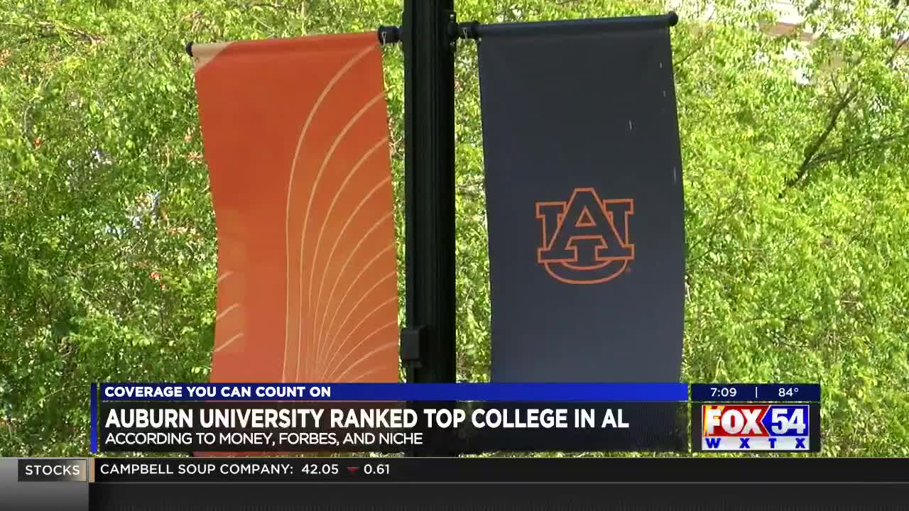Auburn University ranked top college in Ala  by 3 major