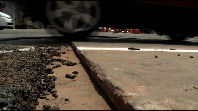 Drivers blame rail work for blowouts