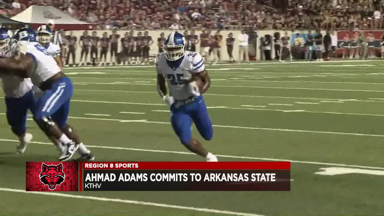 Bryant senior RB Ahmad Adams commits to Arkansas State