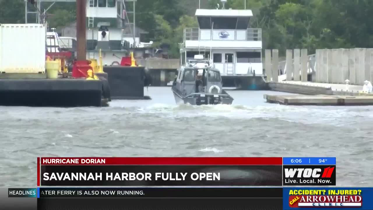 Savannah Harbor fully back open without restrictions
