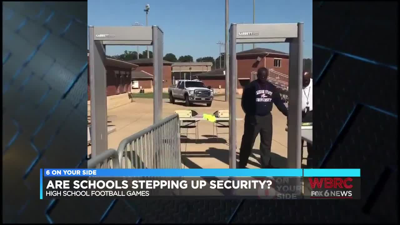 Beefing up security at high school football games