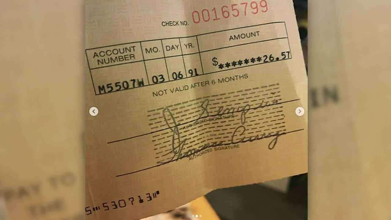 Kurt Cobain royalty check from 28 years ago found in record