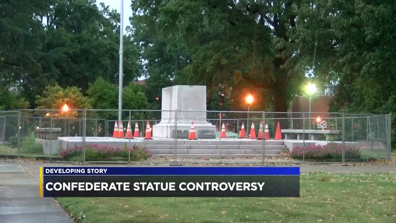 Image result for Sons of Confederate Veterans demanding millions from City of Memphis, Greenspace over statue removal