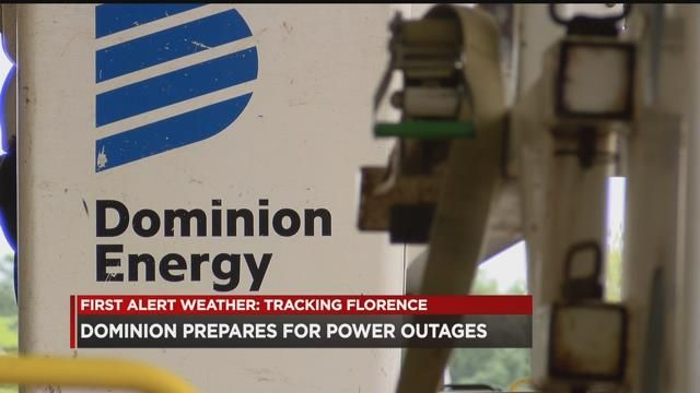 Dominion Energy Prepares For Expected Outages Due To Hurricane Florence