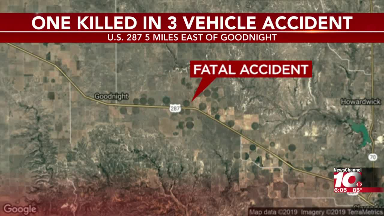 1 dead after 3-vehicle wreck on US 287 near Goodnight