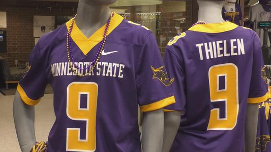 official photos 806b4 9cf79 Adam Thielen's Minnesota State jersey now available for ...