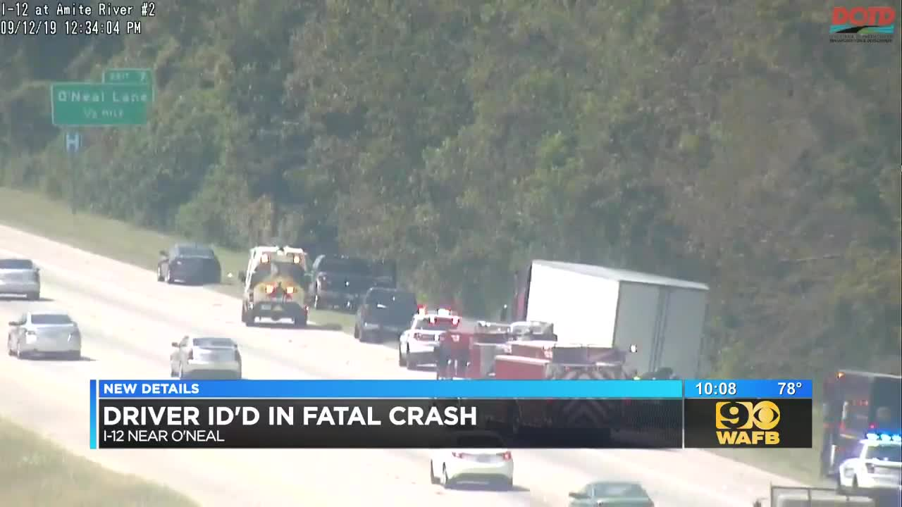 LSP investigating fatal vehicle vs  18-wheeler crash on I-12