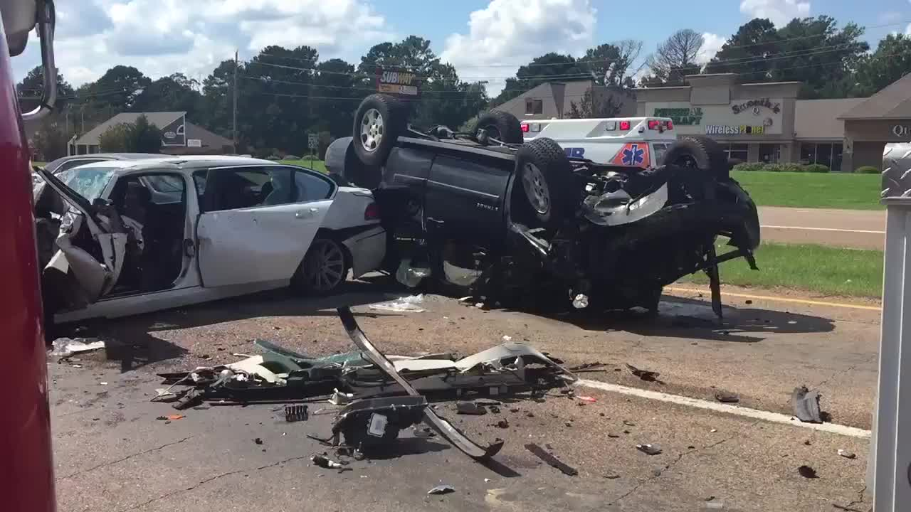 Multiple vehicle accident only causes minor injuries