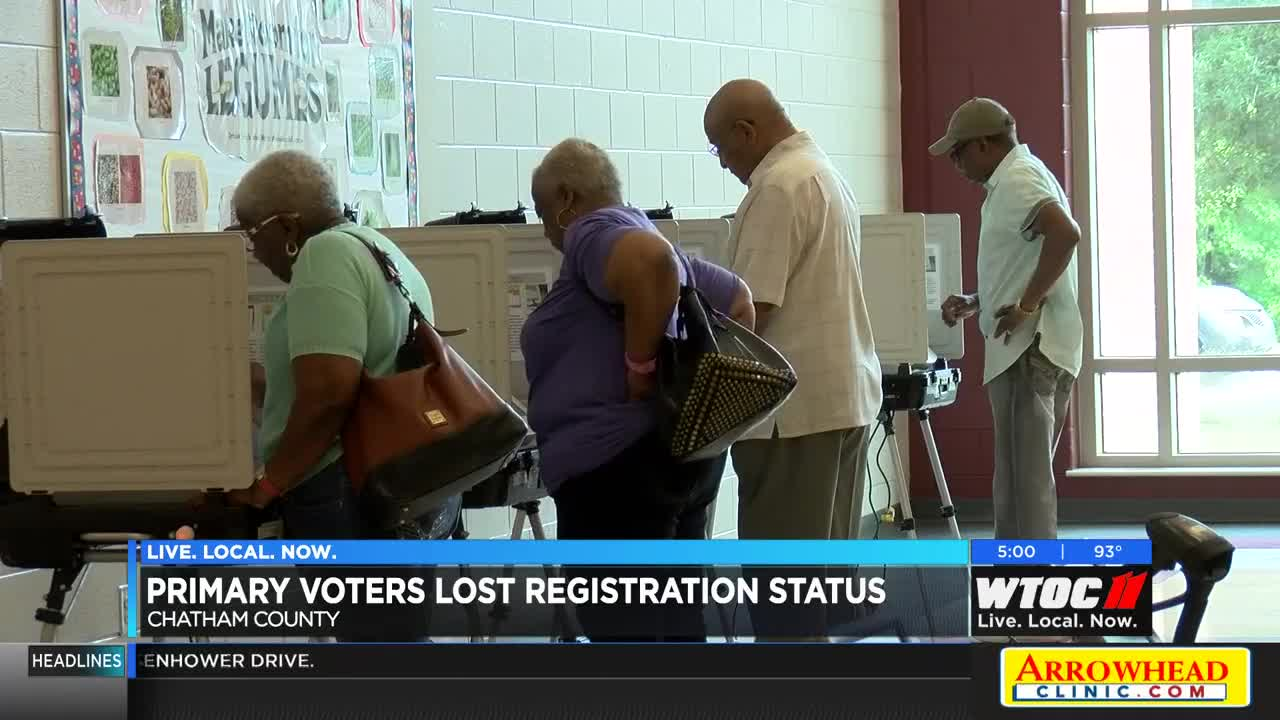 Primary voters lose registration status in Chatham County