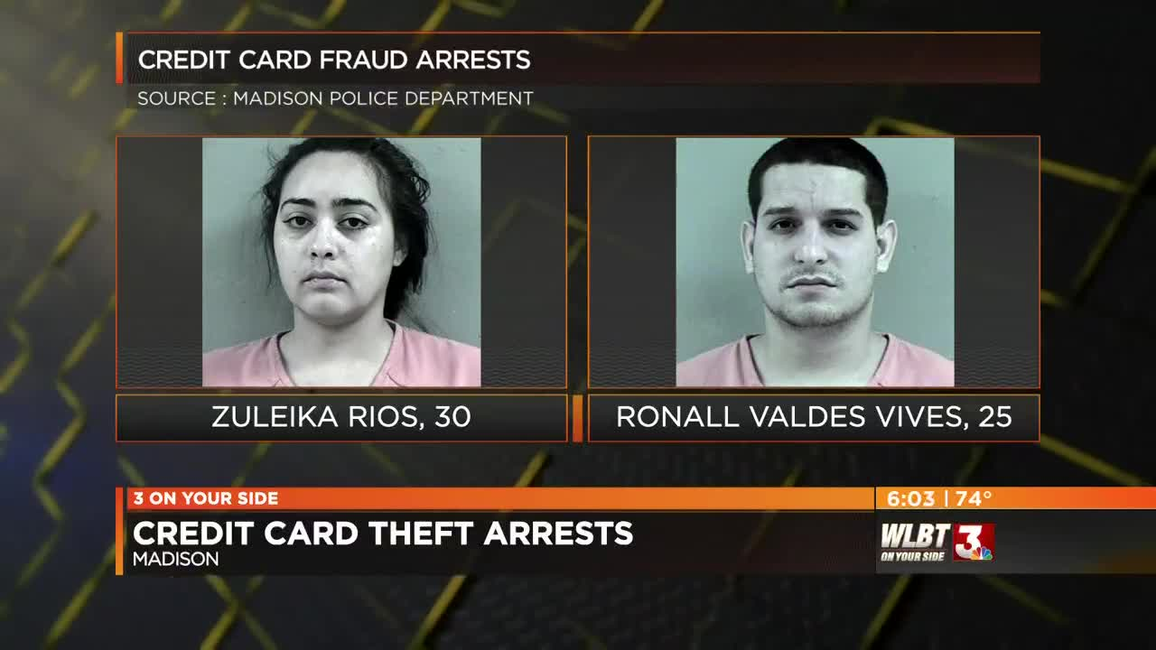 Two arrested in Madison for credit card fraud
