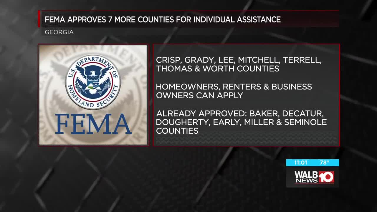 Fema Continues To Expand Individual Disaster Assistance List In Swga