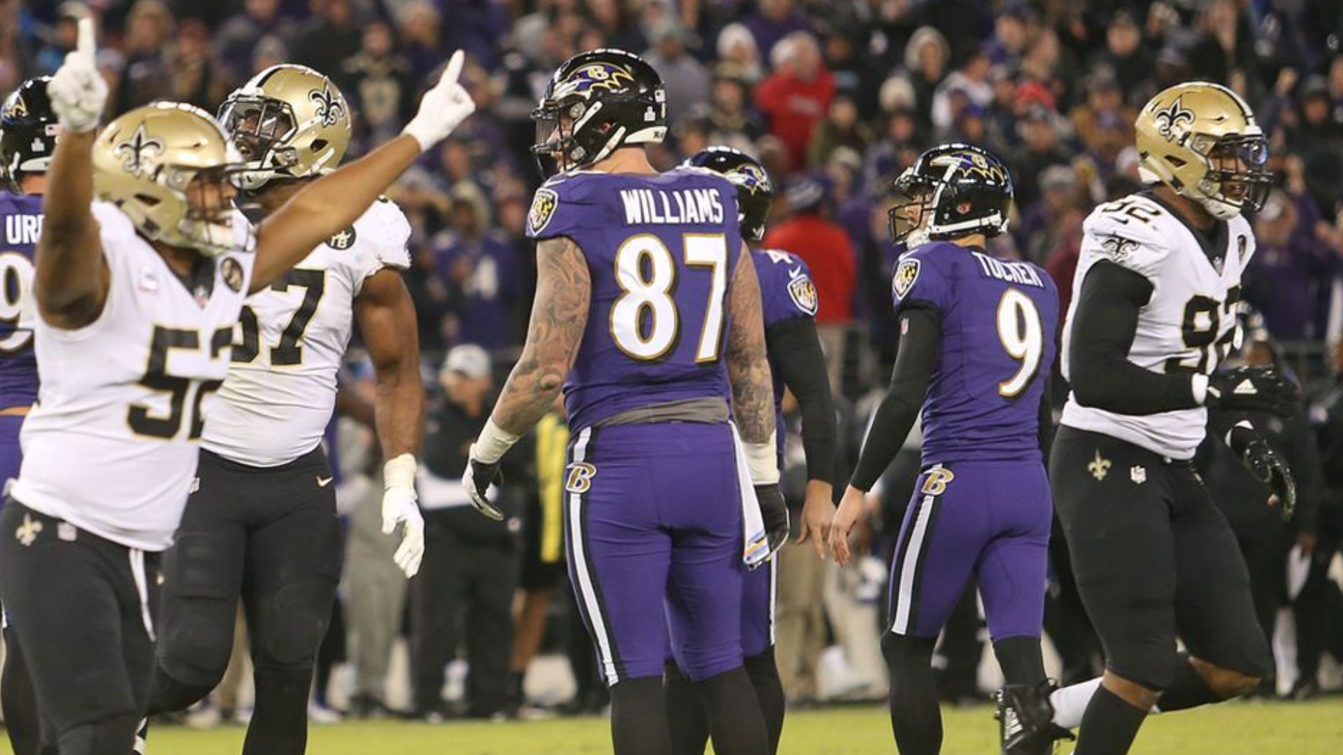 Justin Tucker Misses Extra Point To Tie Game Saints Win 24 23