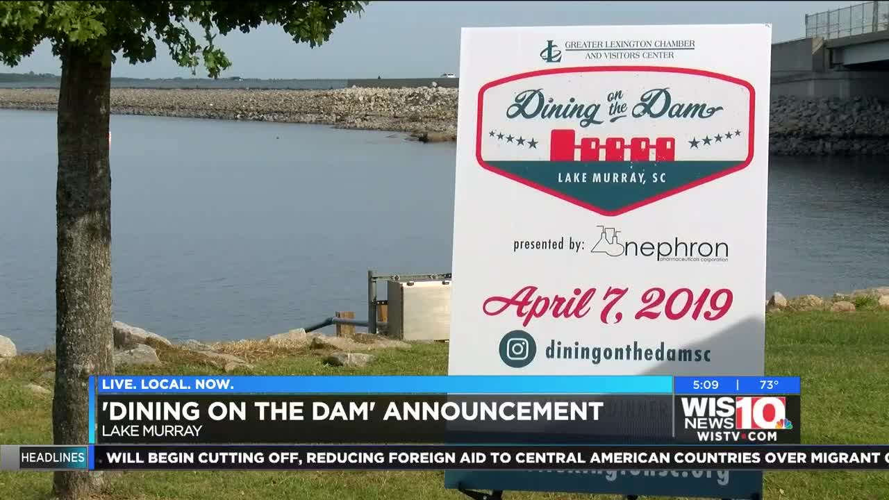 Greater Lexington Chamber To Host First Dinner On Lake Murray Dam