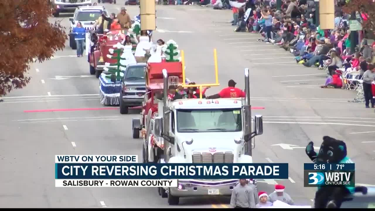 """Preparations underway for the """"reverse"""" parade in downtown Salisbury"""