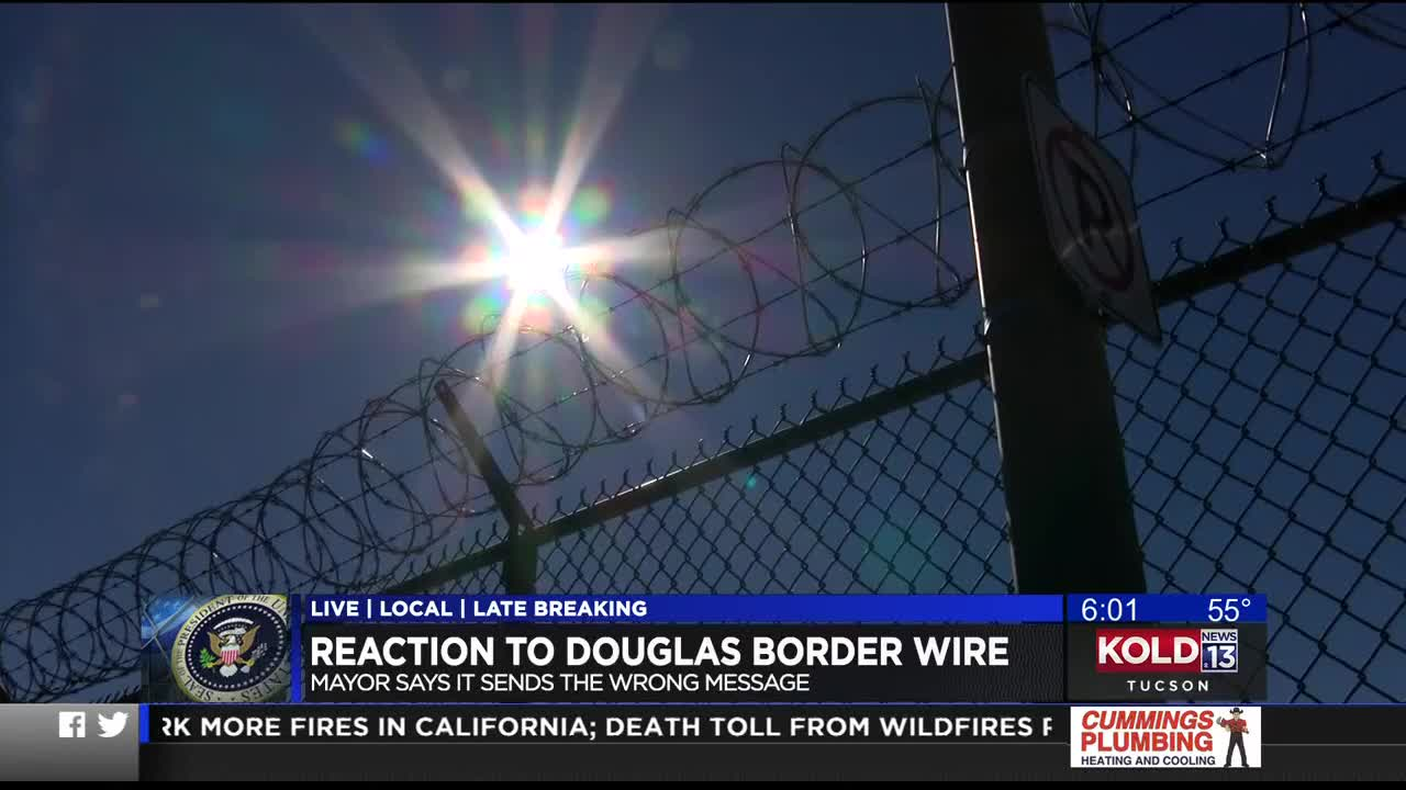 border mayor worries razor wire sends wrong message