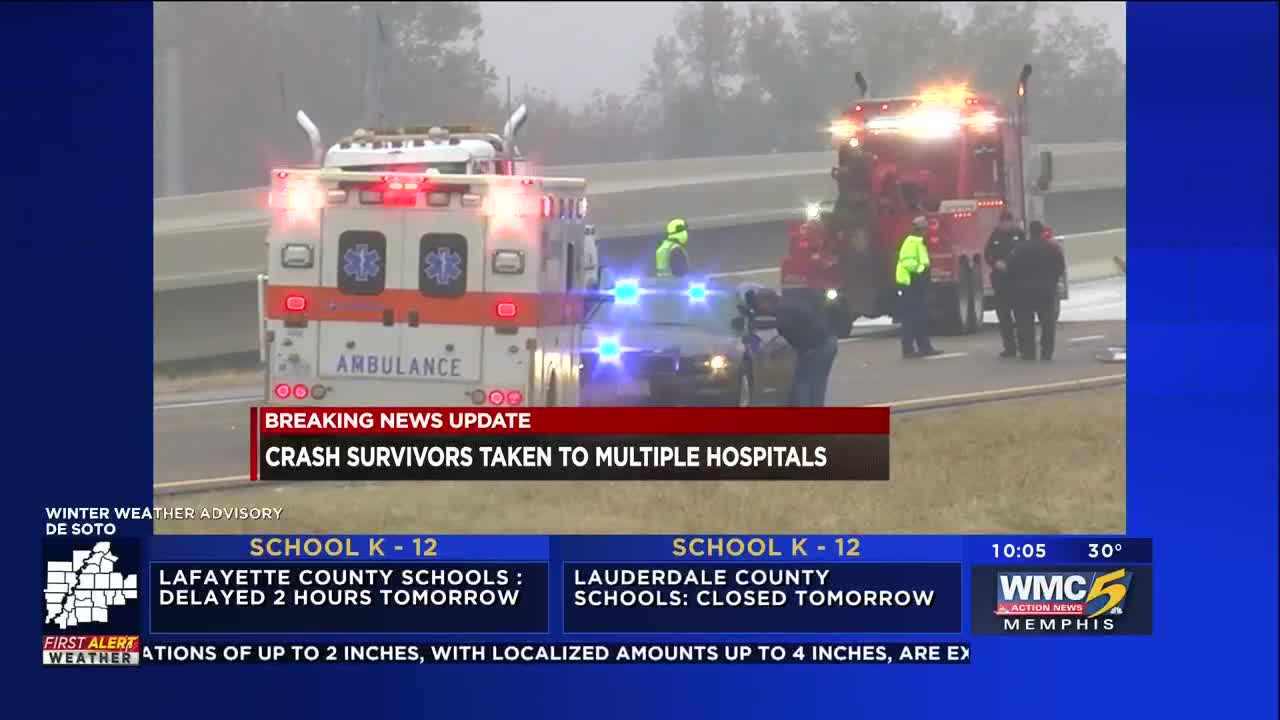 Victims identified after Tunica-bound tour bus overturns on