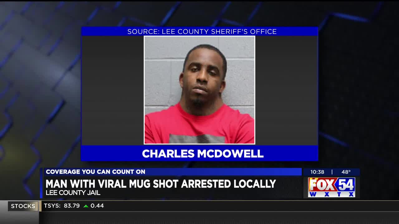 Suspect in viral mugshot photo booked in the Lee County, AL jail