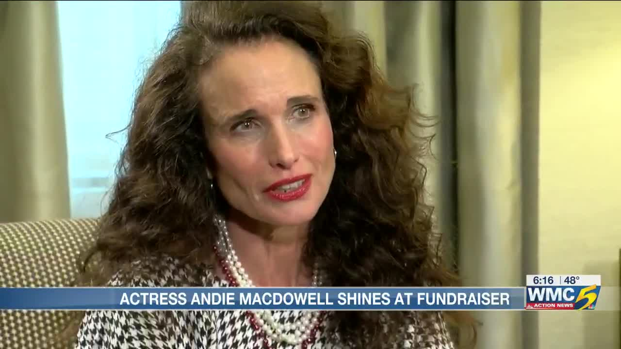 Andie Macdowell Sex Tape actress andie macdowell shines at fundraiser