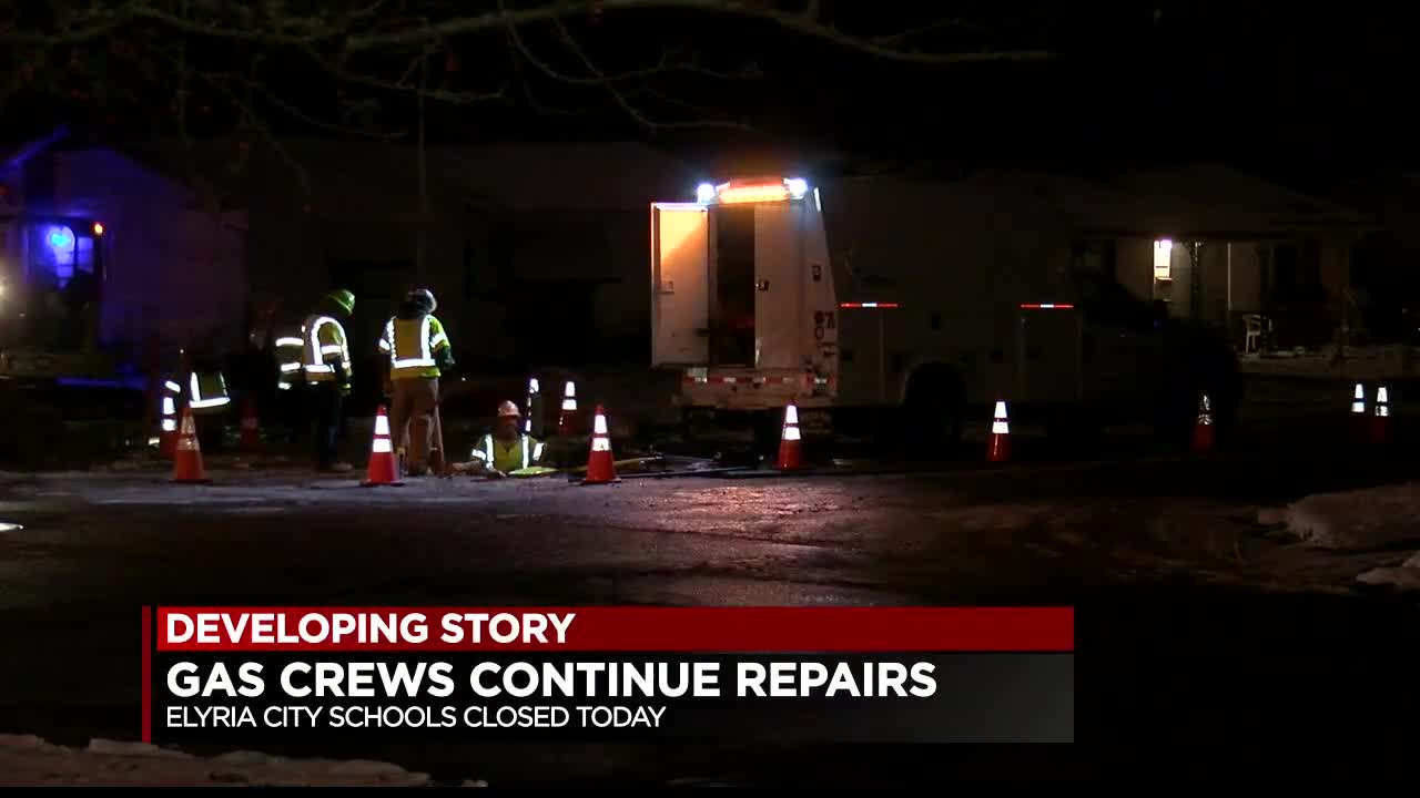 Crews continuing work to restore gas service in Elyria