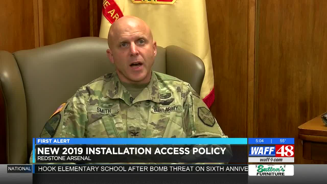 2019 brings new rules for getting through Redstone Arsenal's